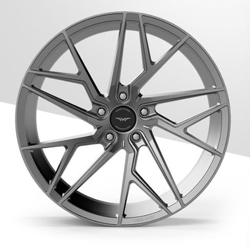 "NEW 19"" VEEMANN V-FS44 ALLOY WHEELS IN GLOSS GRAPHITE WITH WIDER 9.5"" REARS"